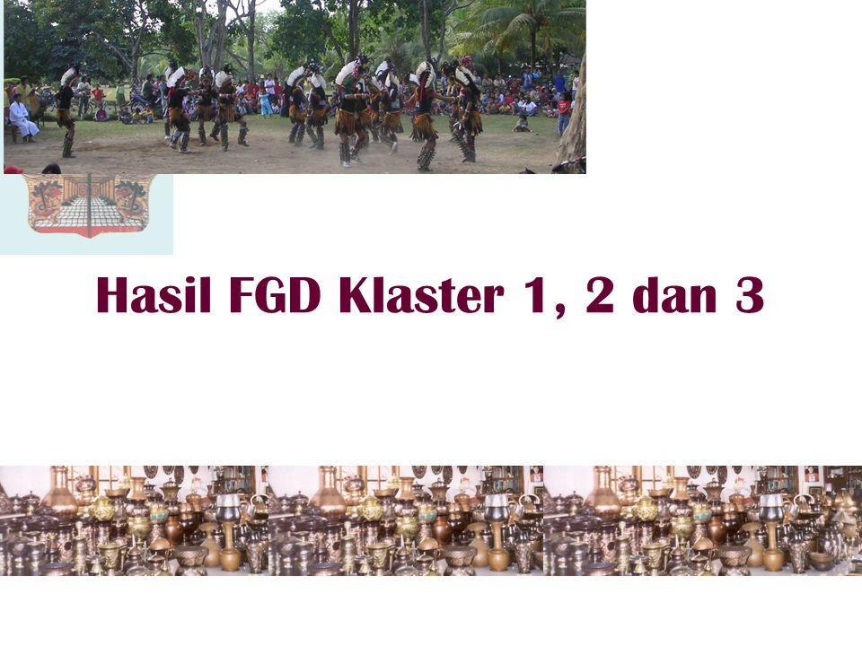 Hasil FGD Klaster 1, 2 dan 3