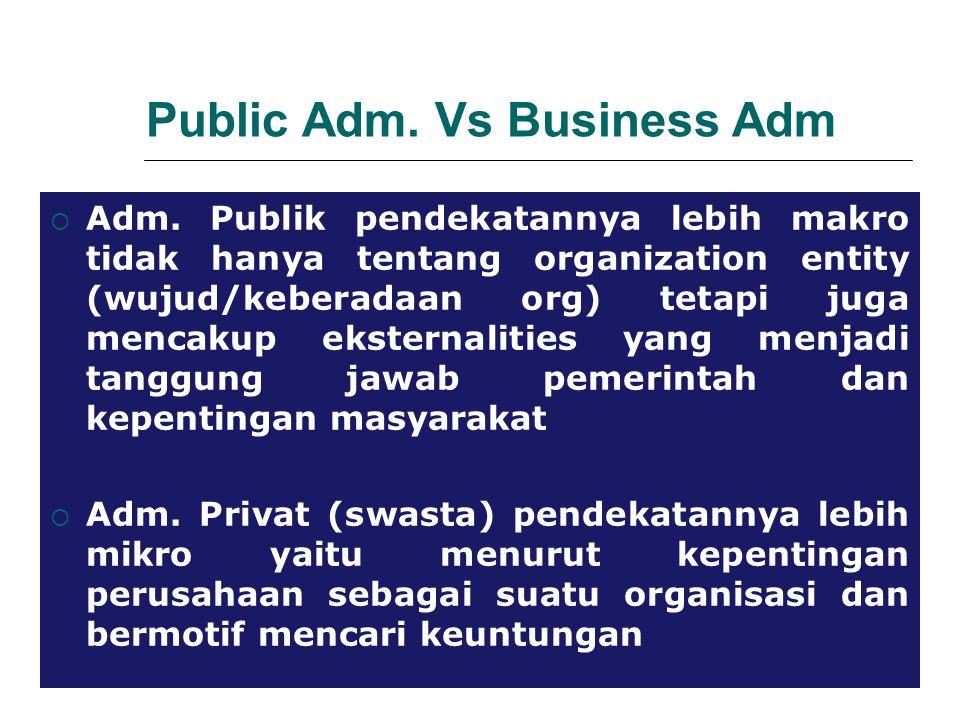 Public Adm.Vs Business Adm  Adm.