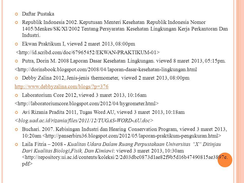 Daftar Pustaka Republik Indonesia 2002.