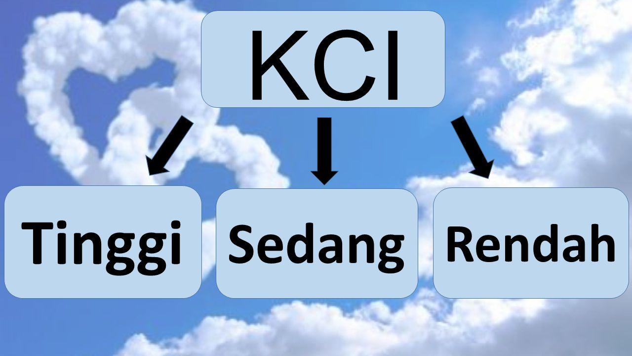 KCI Tinggi Sedang Rendah