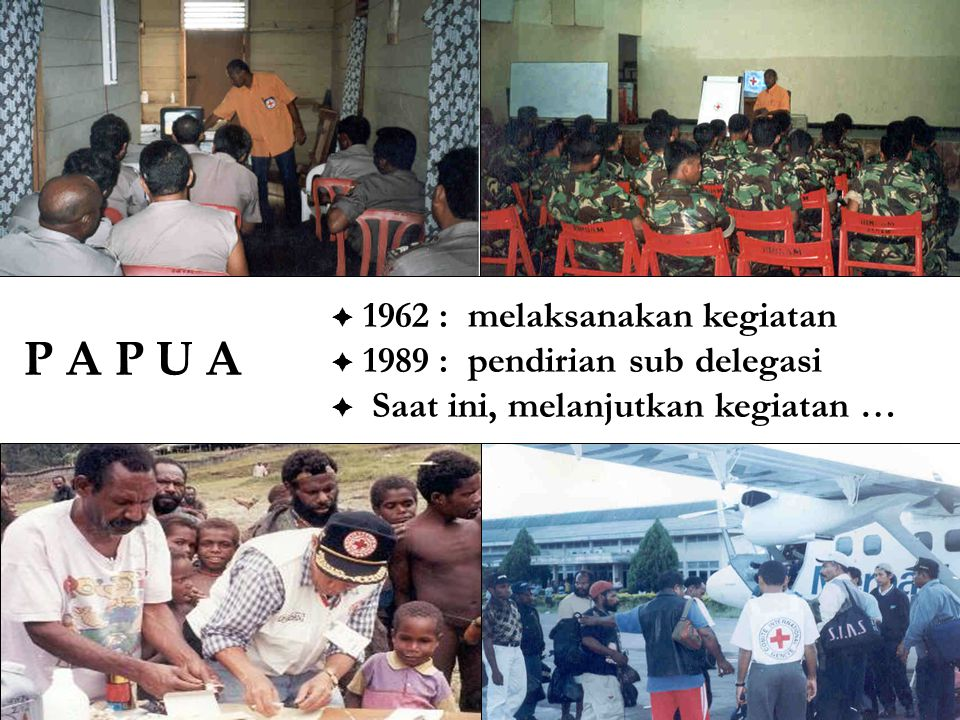 P A P U A  1962 : melaksanakan kegiatan  1989 : pendirian sub delegasi  Saat ini, melanjutkan kegiatan …
