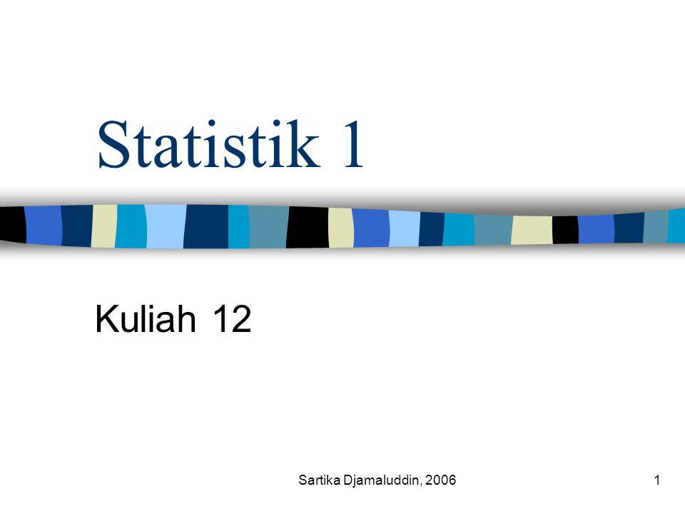 Sartika Djamaluddin, 20061 Statistik 1 Kuliah 12