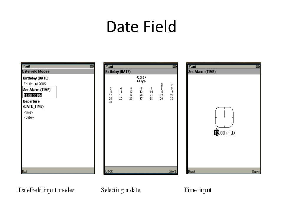 Date Field