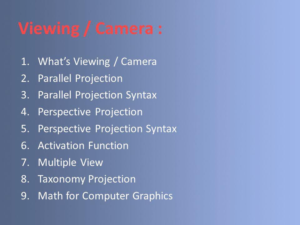 Taxonomy Projection Proyeksi Planar Paralel Perspektif ObliqueOrtografik Tiga Titik Satu TitikDua Titik Lain-lain CavalierKabinet Ortografik multi pandangan Aksonometrik Trimetrik IsometrikDimetrik