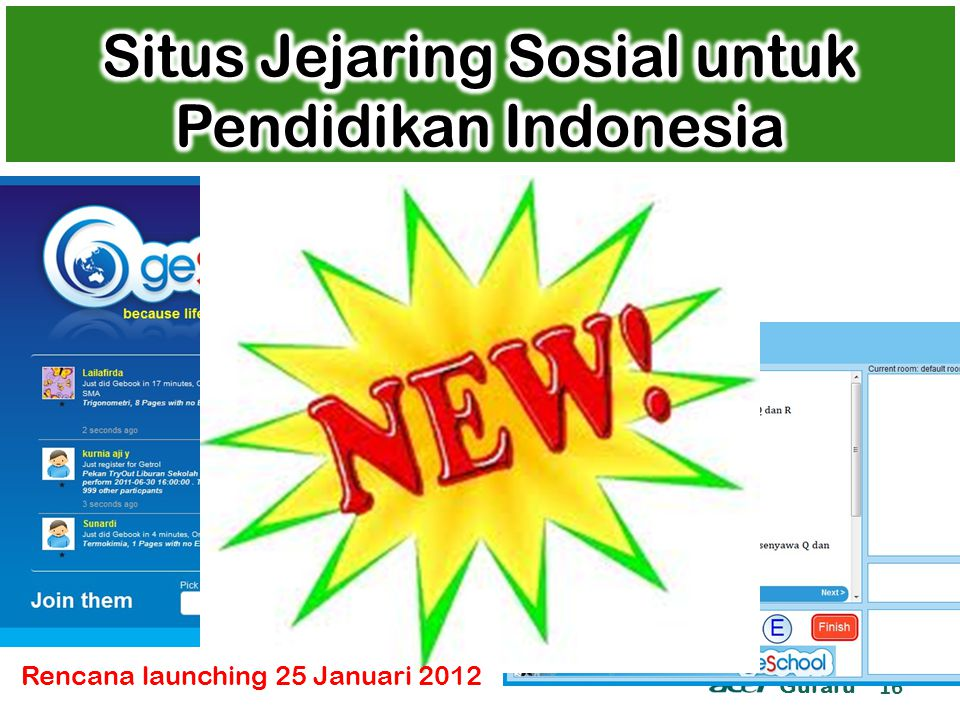 Guraru 16 Rencana launching 25 Januari 2012