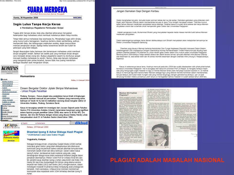 PLAGIAT ADALAH MASALAH NASIONAL