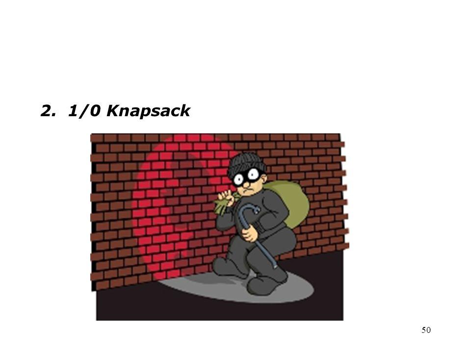 50 2. 1/0 Knapsack