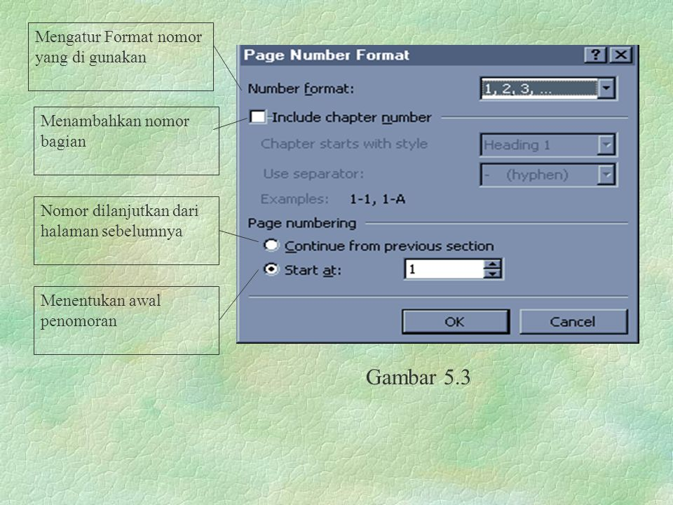 Menu Format Perintah Bullets and Numbering Gambar 5.4