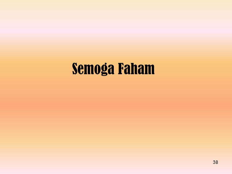 Semoga Faham 38