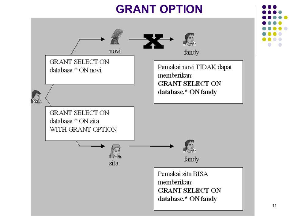 GRANT OPTION 11