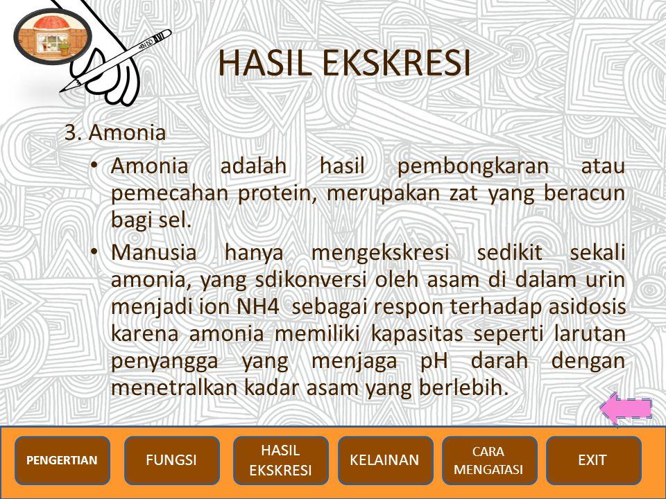 HASIL EKSKRESI 3.