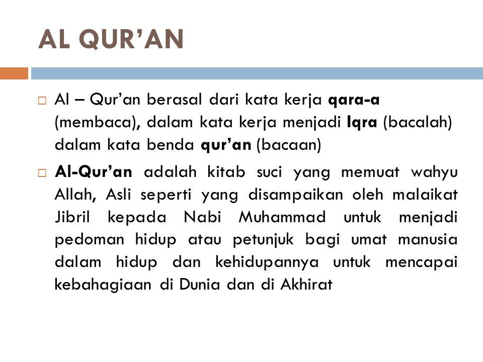 SUMBER-SUMBER HUKUM ISLAM  Berdasarkan QS. Annisa : 59  Berdasarkan Hadist Mu'az Bin Jabal Sumber Hukum Islam Adalah: 1. Al Qur'an 2. Al Hadist / As