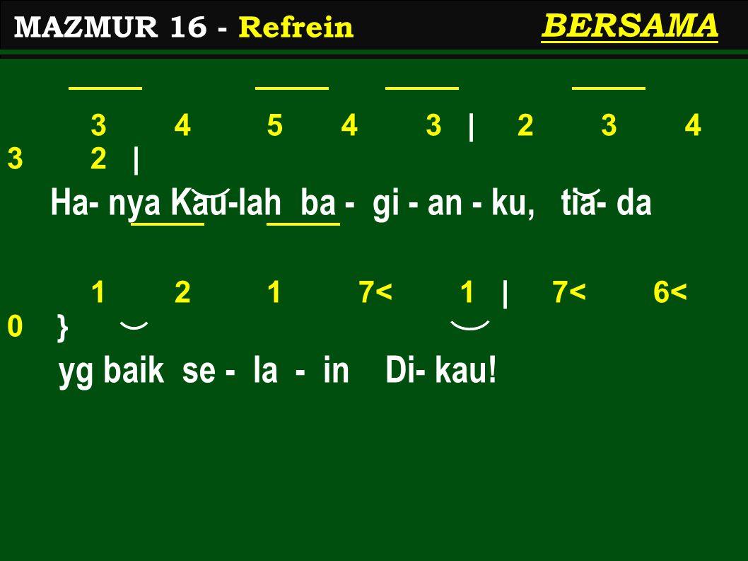 5</ 6< 7<.2 | 2 3 1. | Kau tun- juk - kan pa- da - ku 7< 1 2 5< 7< 2 | 4 3.