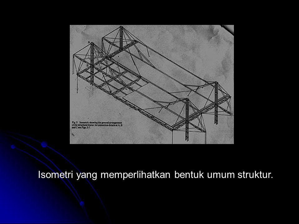 Isometri yang memperlihatkan bentuk umum struktur.