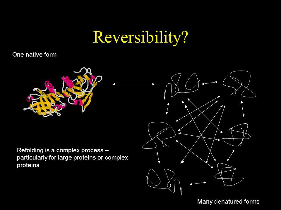 Reversibility.