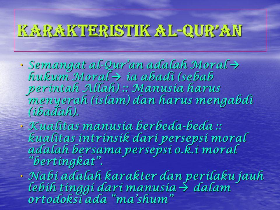 Al-Qur'an dan Muhammad Seluruh perilaku Muhammad adalah model yang sempurna .