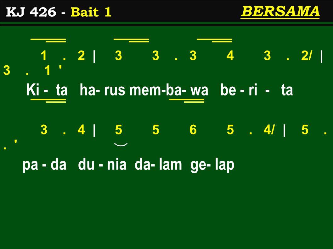 5 | 1> 1> 7 6.6 | 5 3 1 Ku - a - sa Kris- tus 'kan nya- ta - lah, 4 | 3 3.