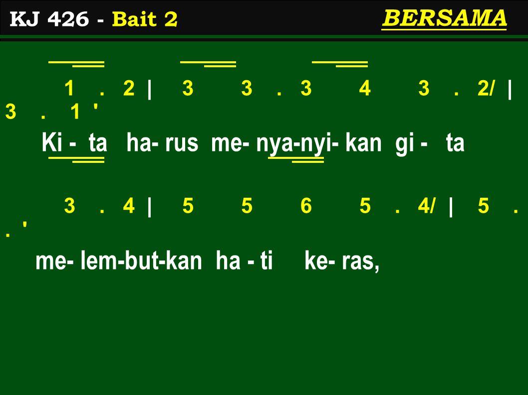 1. 2 | 3 3. 3 4 3. 2/ | 3. 1 Ki - ta ha- rus me- nya-nyi- kan gi - ta 3.