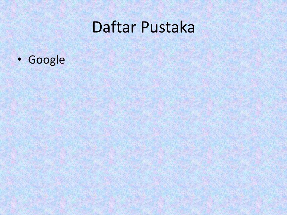 Daftar Pustaka Google
