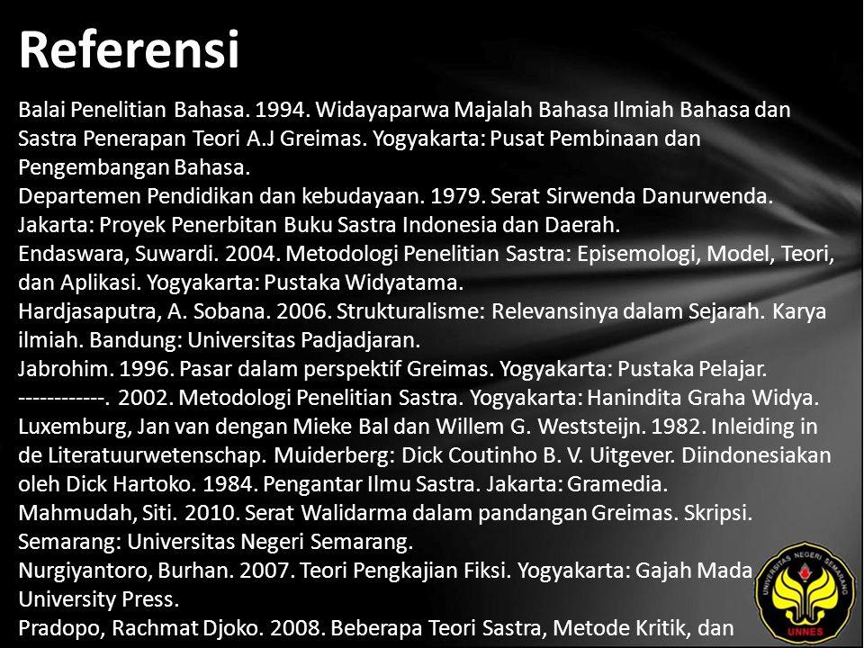 Referensi Balai Penelitian Bahasa. 1994.