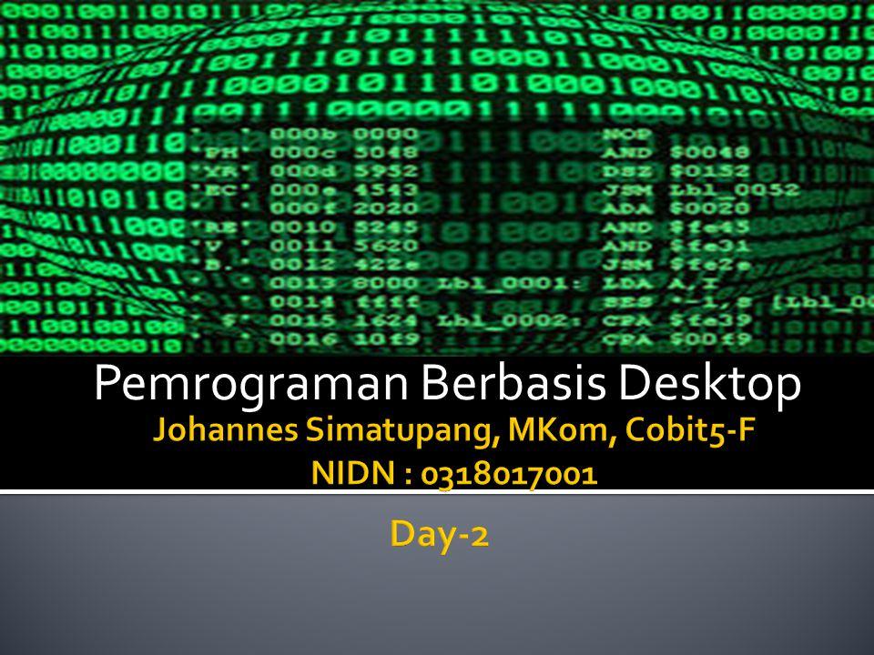 Pemrograman Berbasis Desktop