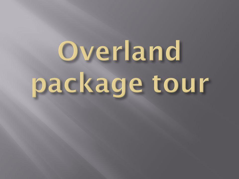  Wisata overland adalah perjalanan wisata melalui jalur darat dan menyebrang antar pulau dan berhenti pada titik obyek wisata tertentu  Overland tour biasanya selalu menggunakan kendaraan yang dapat di pilihsesuai dengan jumlah peserta, namun dapat di pertimbangkan kenyamanan nyaa.