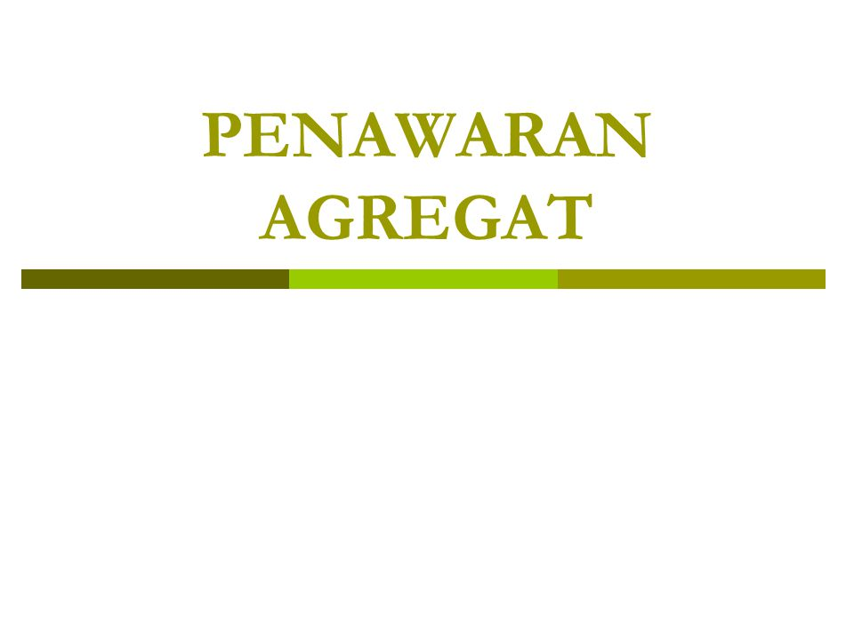 PENAWARAN AGREGAT