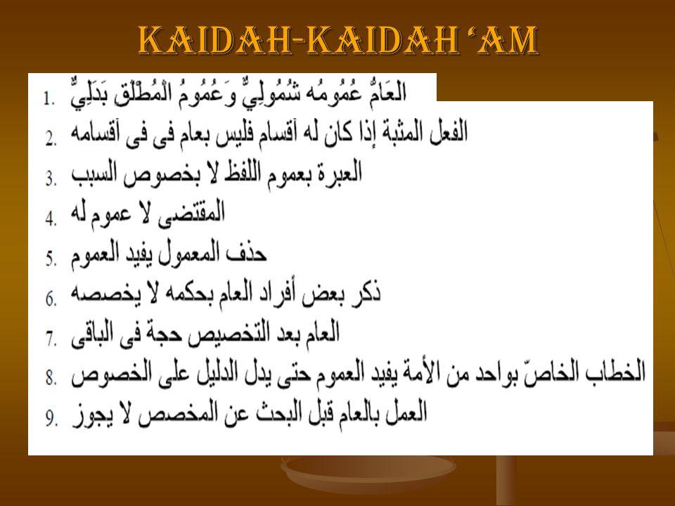 KAIDAH-KAIDAH 'AM