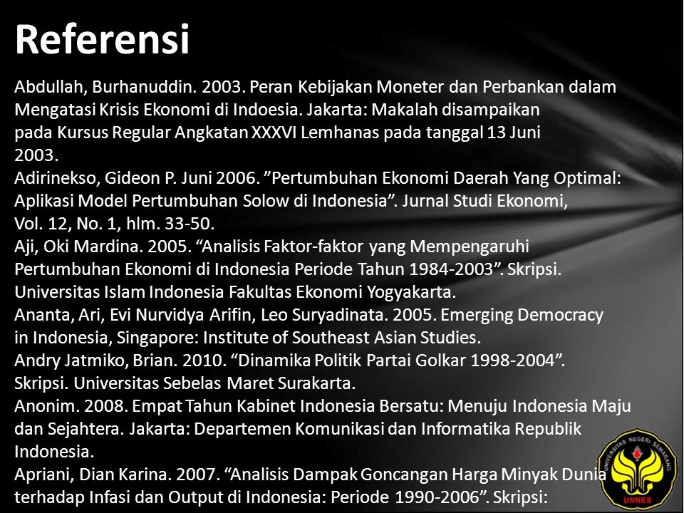 Referensi Abdullah, Burhanuddin. 2003.