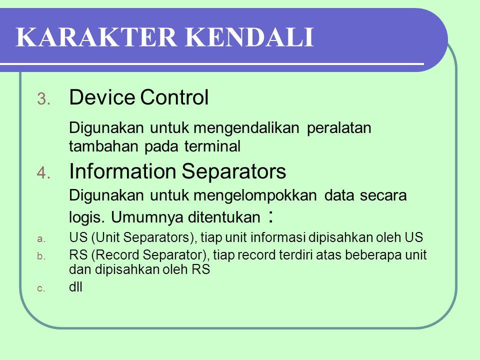 KARAKTER KENDALI 3.