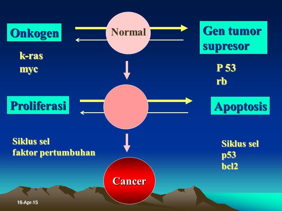 16-Apr-15 Patogenesis kanker paru Kanker adalah penyakit gen
