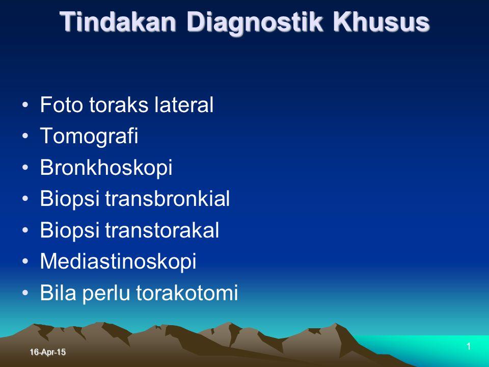 16-Apr-15 1 Pemeriksaaan saringan untuk G.R.T TDK : Tindakan Diaknostik Khusus TDK Mungkin ganas tapi perlu DD TDK Pem saringan di atas diteruskan Tid