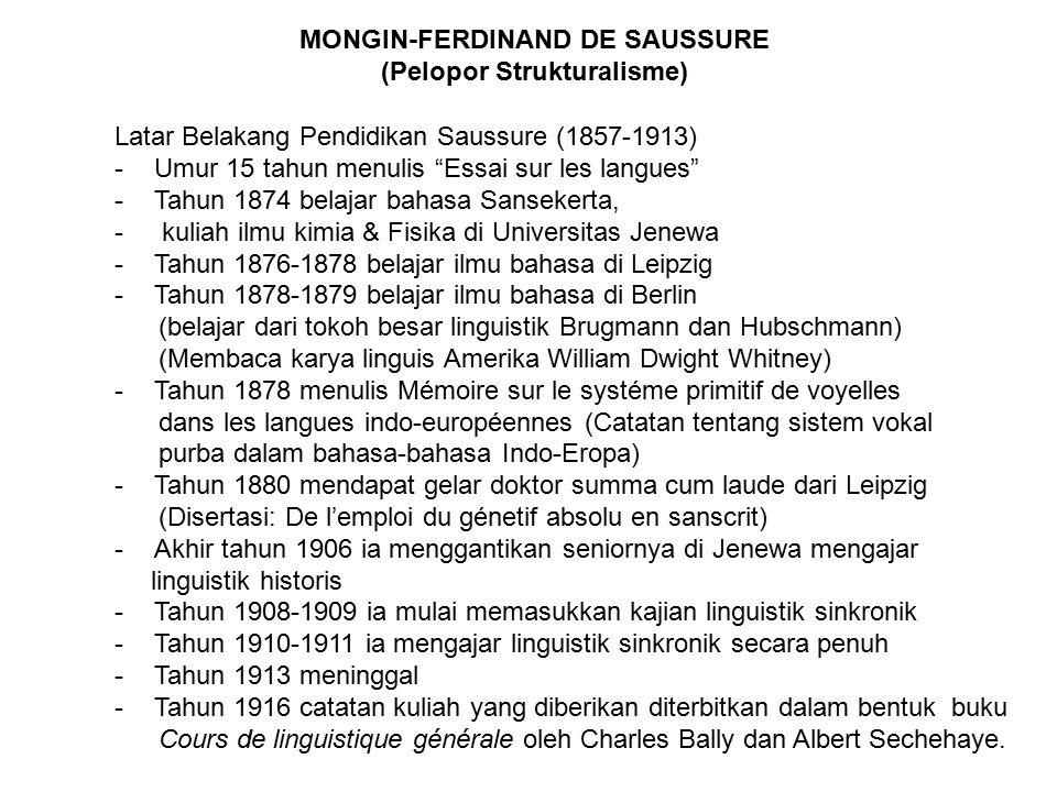 Dasar pemikiran Saussure: Kegelisahannya dalam menentukan objek linguistik.
