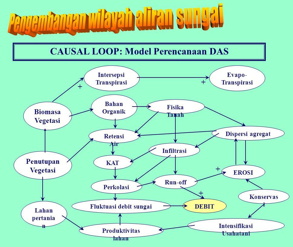 Diagram Kotak Hitam Model DAS Sistem DAS Hidrologi ErosiHidrologi Sedimentasi ProduksiProd.