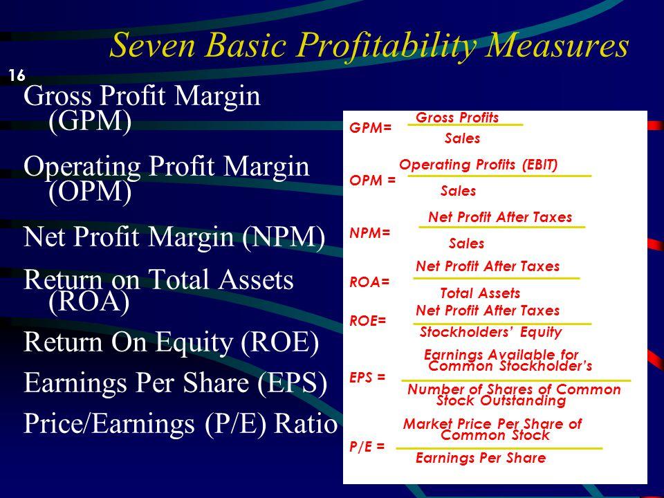 Analyzing Profitability –Profitability menilai kemampuan perusahaan untuk beroperasi secara efisien dan menjadi perhatian pemilik, kreditor, dan manaj