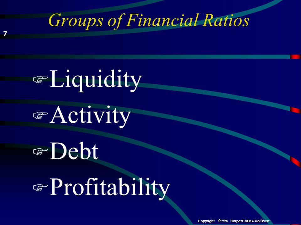   DuPont analysis Net Income Sales Total Assets Profit Margin Asset Turnover Total Debt Total Assets Return on Assets Financing Plan Return on Equity Return on Assets  (1 - Debt/Assets) = 