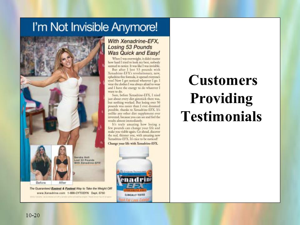 10-20 Customers Providing Testimonials
