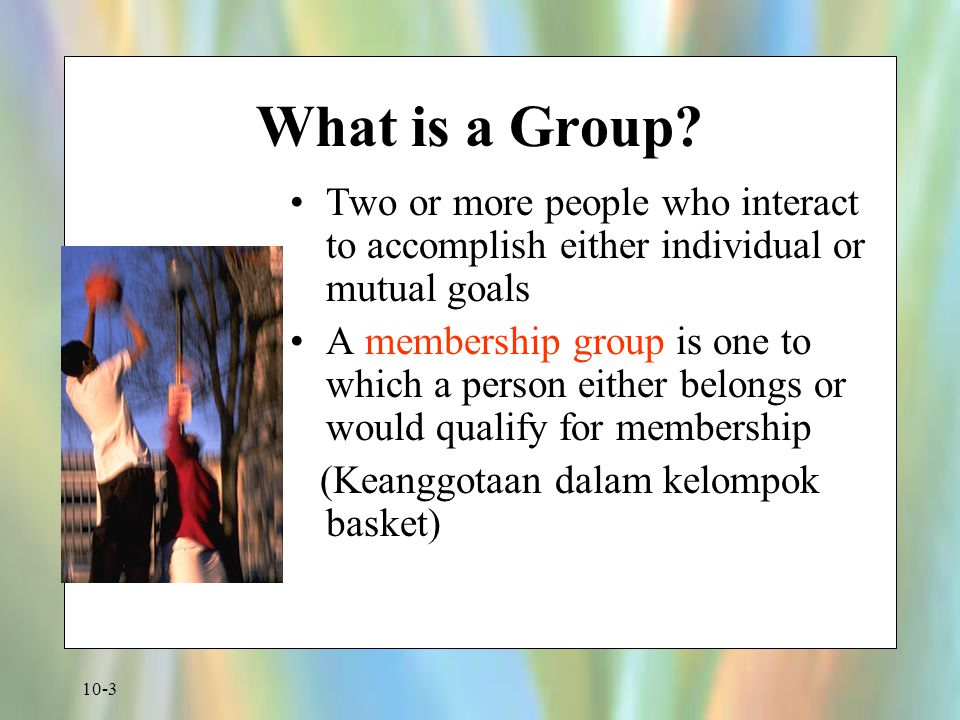 10-4 What is a Group.