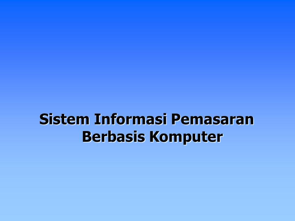 Sistem Informasi Pemasaran Berbasis Komputer
