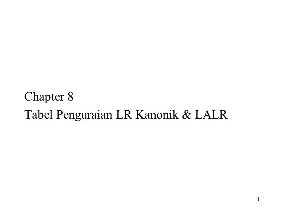 1 Chapter 8 Tabel Penguraian LR Kanonik & LALR
