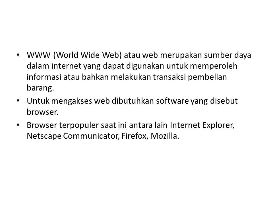 a.Email, digunakan untuk melakukan pertukaran surat elektronis.