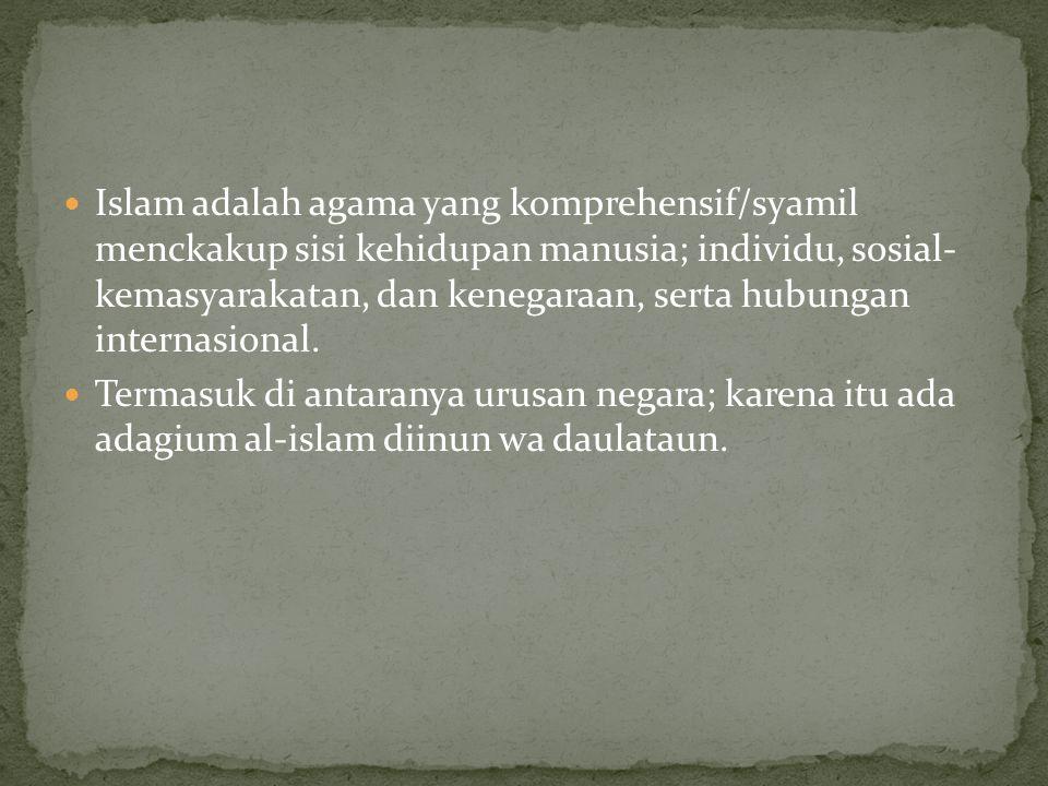 1.Politik unsur fundamental dalam konsep hukum politik Isloam 2.