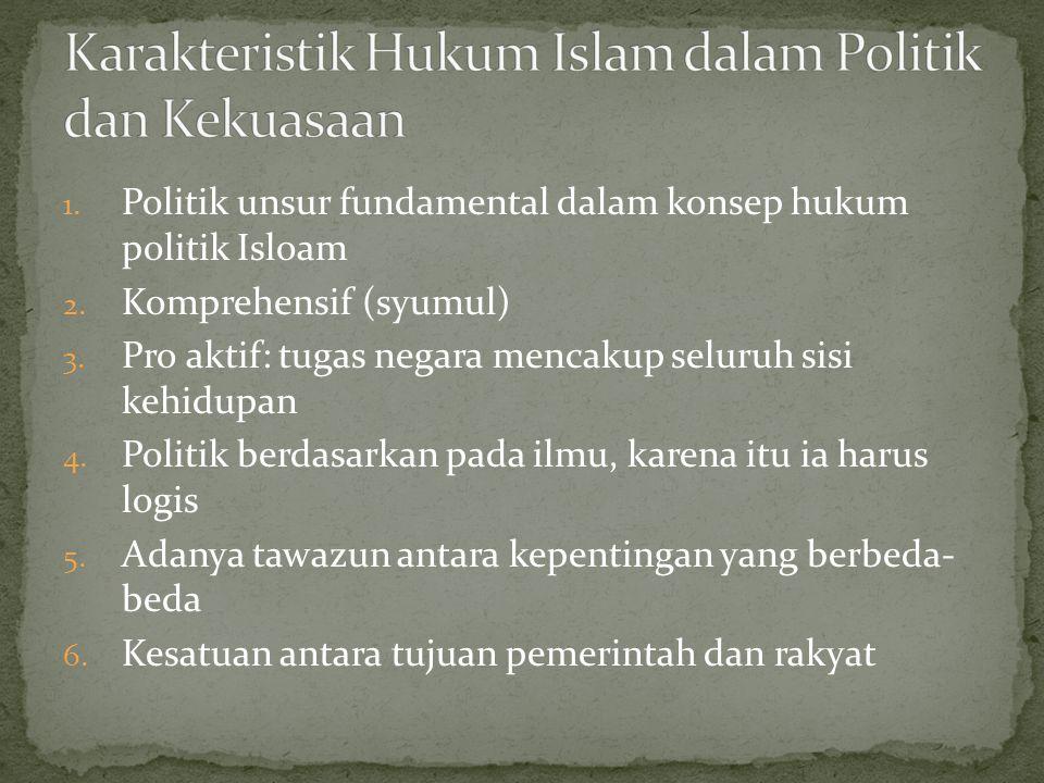 1. Politik unsur fundamental dalam konsep hukum politik Isloam 2.