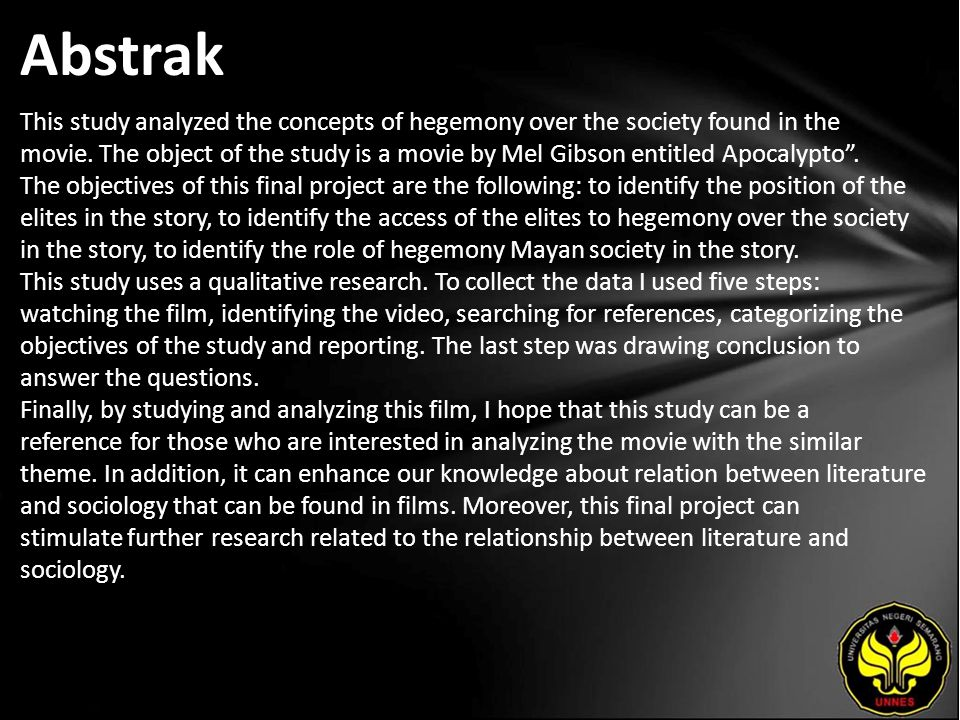 Abstrak This study analyzed the concepts of hegemony over the society found in the movie.