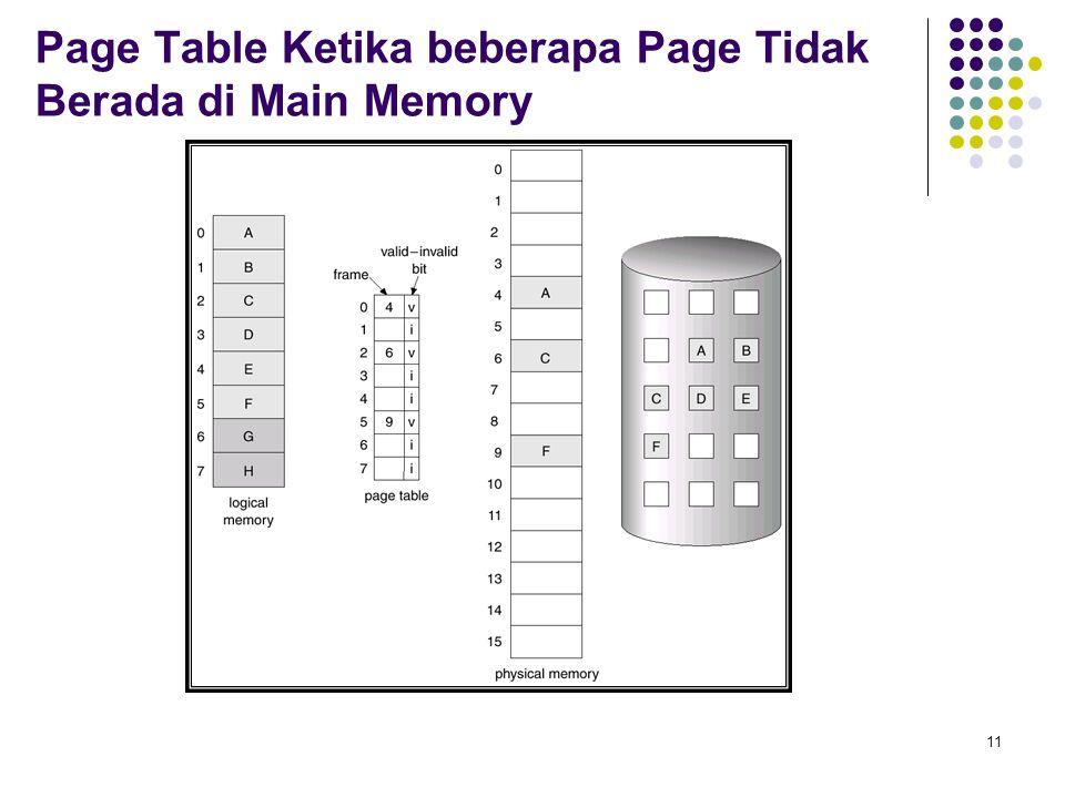 11 Page Table Ketika beberapa Page Tidak Berada di Main Memory