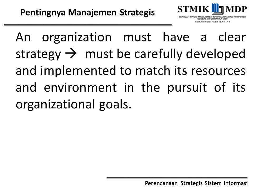 Perencanaan Strategis Sistem Informasi Perkembangan Manajemen Strategis 1950s (Peter Drucker, Alfred Chandler and Philip Selznick.
