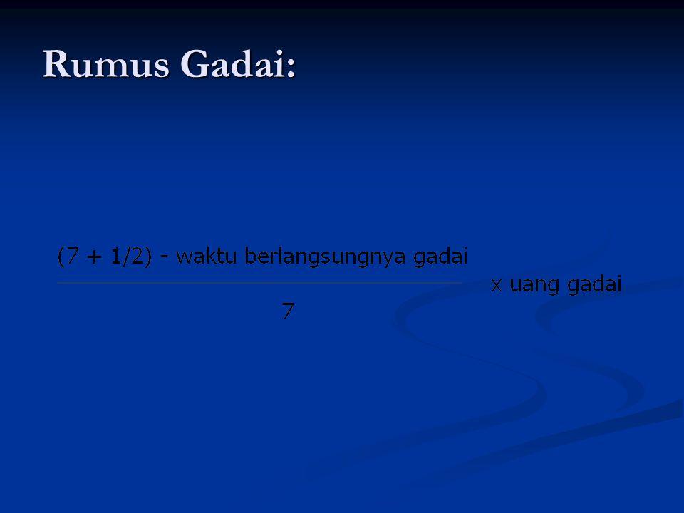 Rumus Gadai: