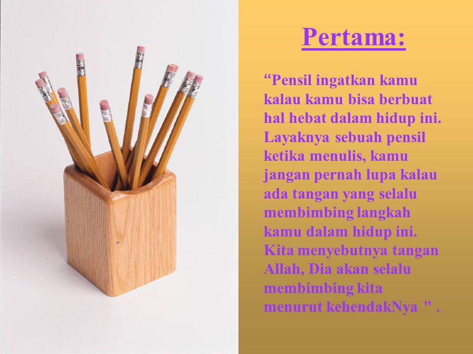 Lima kualitas pensil: