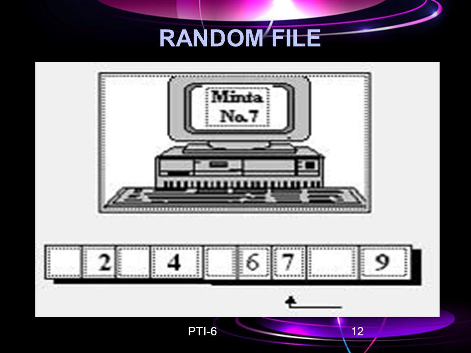 PTI-612 RANDOM FILE