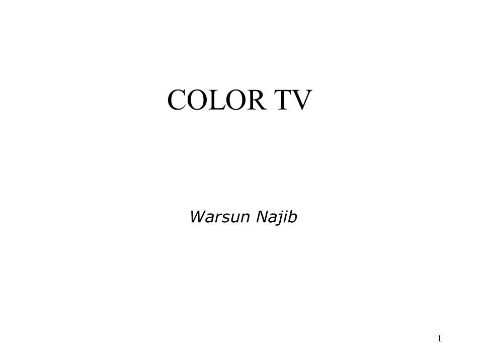 1 COLOR TV Warsun Najib